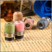 best electronics materials - Best Stable Wood SS Drip Tip Colorful Mouthpiece High quality Stable Wood Material for Electronic Cigarette Atomizer