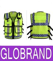 able printing - 2016 NEW HONGKONG STYLE Reflective vest Lattice screen cloth Safety vest Traffic police zipper reflective vest print able GLO756