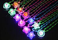 Wholesale Acrylic LED Necklace Light Up Necklace Toys Children Kids Novelty Flashing Halloween Club Pub Birthday Halloween Party