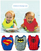 Wholesale 2016 New Baby Swim Vest Children Swimming Learning Jacket Ring Infant Life Jacket Kids Cartoon Floatable Swimsuit Boy Girl Cool Rafting Vest