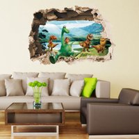 anime posters - Jurassic World Park Dinosaurs Wall Stickers for Kids Rooms Boy Decoration Dinossauro Wall Decals Anime Poster Wallpaper Kids Romm