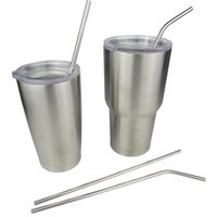 Wholesale Hot Sale YETI Cups Straw Stainless Steel Drinking Straw With Cleaning Brush Kits Fit YETI OZ OZ Tumbler Rambler Cup