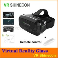 Wholesale VR SHINECON Virtual Reality D Glasses Helmet VR BOX Headset For Smartphone inch inch Retail Package bluetooth game controller