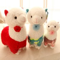 alpaca cloth - 28 cm Lovely Flower Sheep Plush Toys Alpaca Plush Cloth Doll Children s Day Gift Baby Kids toys