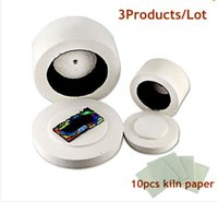 achat en gros de le plus petit micro-ondes-2pcs / lot Four à micro-ondes Fusing Glass Kiln Large Small Kilns + 10pcs Kiln Paper