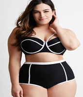 Wholesale 2016 Plus size swimwear black XL XL Bikini Terylene woman swimsuits bathing suits European style