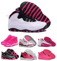 Wholesale 2016 Retro Basketball Shoes Women Pink series With Real Carbon Fiber Retro Shoes Womens Original Valentine s Day Sneakers