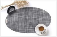 Wholesale fashion oval pvc plastic mat first class pure colour pvc placemat