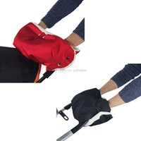 Wholesale Winter Baby Pram Stroller Golf Warmer Glove Cart Mitten Waterproof Muff Red L00069 SMAD