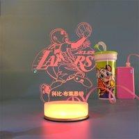 animal shaped candle - Hot Sale Magical Optical Illusion D Kobe USB Optical Illusion LED Night Light Desk Table Lamp Various shape Decorative Lamp