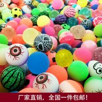 Wholesale 100pcs mm mixed elastic rubber ball toy ball toy machine magic eye watermelon rubber ball kids gifts ZJ