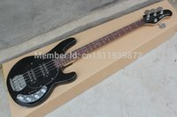 Wholesale Hot Selling Ernie Ball Musicman Music Man Sting Ray Strings V Active Pickup Black Electric Bass Guitar