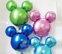 balloon diy - 2017 new solid aluminum balloons cartoon Mickey head monochrome Minnie head DIY balloon balloons children