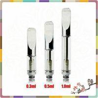 Wholesale 510 glass vaporizer CBD oil glass a3 atomizer CE3 CBD oil cartridge Pyrex glass cartridge CE3 atomizer vaporizer