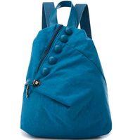 backpack fasteners - Blue fastener backpack D garment design school bag Hot sale day pack leisure daypack