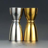 Wholesale 30 ML Bar stainless steel jiggers measurement ounces cocktail shaker jigger drink measure Japanese gold jigger