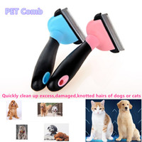 Wholesale Pet supplies Cat Dog grooming tools Pet Combs Thinning hair dog brush Cleaning up damaged hair Knotted hair removal cat brush colors