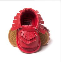 Wholesale 2016 new Baby moccasins first walker shoes Tassels baby shoes soft soled shoes soled sandals Color DHL