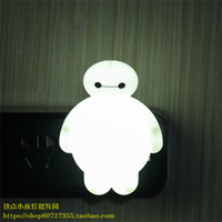 Wholesale 2016 new Led switch small night light big hero Baymax fashion electric lamp baby bed lighting teethe