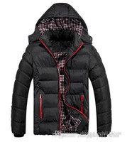 Cheap Winter Coat Men quilted black puffer j Best warm fashion male overcoat parka