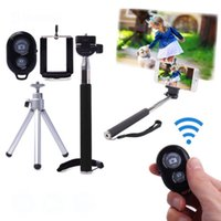 Wholesale Self Shooting selfie shutter Monopod Stick Holder Extendable Handheld Bluetooth Shutter for IOS Android Mobile Phone