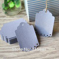 Wholesale Silver Small Gift Tags Wedding Tags Hang tag Retro Kraft Gift tag Paper Label Cards