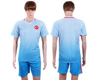 Wholesale 16 Euro Turkey away blue second blue football jerseys soccer shirts can be with name and number