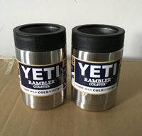Wholesale YETI oz Rambler Tumbler Lens Cup NewMugs Vehicle Beer Mug Double Wall Bilayer Vacuum Insulated ml Stainless Steel cups