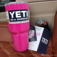 mugs - 30 oz Pink YETI Tumbler Rambler Cups Yeti Coolers Cup Yeti Sports Mugs Large Capacity Stainless Steel Travel Mug