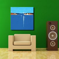 abstract acrylic paintings on canvas - Lowest price blue acrylic oil painting abstract art for modern room decorative simple oil painting on canvas landscape