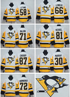 Wholesale 2017 Pittsburgh Penguins Away Hockey Jersey Sidney Crosby Evgeni Malkin Phil Kessel Mario Lemieux Kris Letang Mix