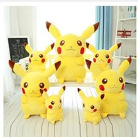 Wholesale 3D Cartoon Toy Pikachu LED Light Toys Luminous Flashlight Sound Toy Promotion Lover Children gift Anime Cartoon Poke Pikachu Plush Toy