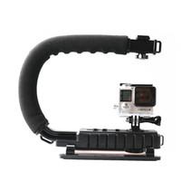Wholesale Gopro stabilizer C Shape Portable Bracket Stand Handled Stabilizer Grip Flash Support tripod for DSLR Camera DV GoPro