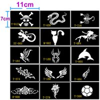 Wholesale attoo Body Art Tattoo Stencils Kinds Stencils for Tattoo Henna Tattoo Stencil for Face Painting Templates Mehendi Airbrush Glitter Tem