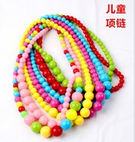 Wholesale 2016 Hot new cartoon Korean children necklace colorful beads girls jewelry accessories colorful necklace
