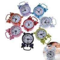 Wholesale Home Outdoor Portable Cute Mini Cartoon Dial Number Round Desktop Alarm Clock Metal Clocks reloj despertador diameter of cm for kids gift