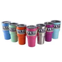 Wholesale YETI Tumbler Cup Rambler Cooler Stainless Steel Mug oz Car Vehicle Beer Mugs Double Wall Bilayer Vacuum Insulated Colors
