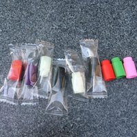 Wholesale Individually wrapped Plastic drip tips Disposable Colorful Silicon testing caps rubber short ego Test Tips Tester Cap drip tips For eci