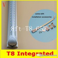 amazing savings - AMAZING DISCOUNT V Shaped ft Cooler Door Led Tubes T8 Integrated Led Tubes Double Sides SMD2835 Led Fluorescent Lights AC V CE FC