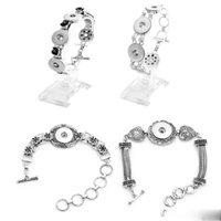 Wholesale Flower Button Bracelet DIY Noosa Ginger Snaps Bracelet Jewelry Bracelet Fit mm Snaps Buttons Trendy Bracelet Styles E881L