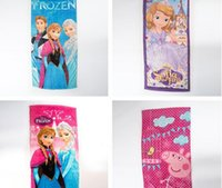 Wholesale new design frozen spiderman sofia first kid children s bath towel beach summer autumn kid gift