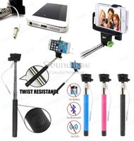 Wholesale Zo7 Monopod with Phone Holder and bluetooth remote shutter Compatible with iOS and Android Extendable Handheld wired monopod groove USB ca