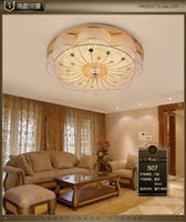 Wholesale European crystal ceiling lamps modern minimalist living room lighting S gold luxury bedroom study LED lamps