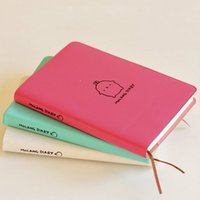 Wholesale 2016 Cute Kawaii Notebook Cartoon Molang Rabbit Journal Diary Planner Notepad for Kids Gift Korean Stationery Three Covers