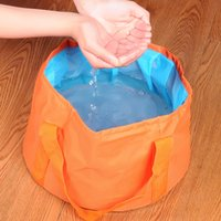 Wholesale Easy Carry Outdoor Camping Supply Portable Fishing Basin Hot Water Lavatory Cloth Footbath Bucket