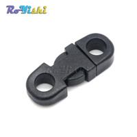 Wholesale 100pcs mm Hole s DIA Straight Flat Side Release Plastic Buckles for Mobile Phone Paracord Black
