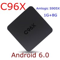 Wholesale C96X Smart TV Box Android Amlogic S905X Quad Core G G Kodi with Wifi P K Smart Box