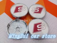 Wholesale high quality alloy mm sline wheel center caps hub cover chrome car badges S LINE Auto accessories