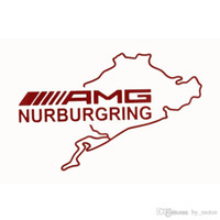 amg bumper - For AMG Nurburgring sports mind Car stickers modify bumper sticker For mercedes benz