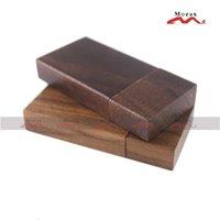 Wholesale 25PCS GB USB Drive Genuine True Storage Wooden Memory Flash Thumb Stick Pendrive Walnut Wood Brown
